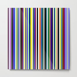Multi color stripes 02 Metal Print