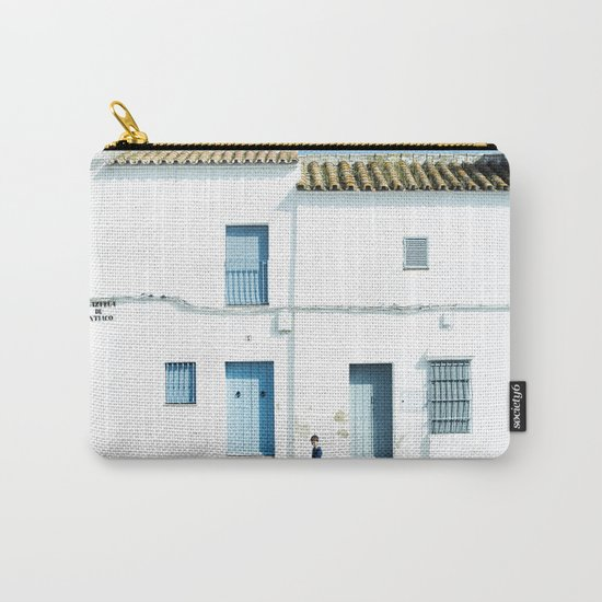 White and blue town Carry-All Pouch