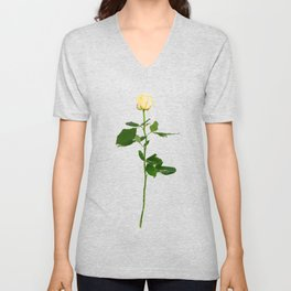 Yellow Rose (Color) Unisex V-Neck