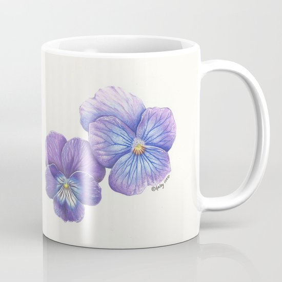Purple Pansies Mug