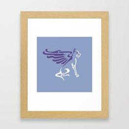 Myths & Monsters: Winged dog Framed Art Print