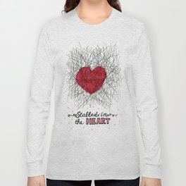 stabbed in the heart Long Sleeve T-shirt