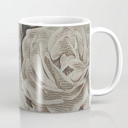 Rose Art Newspaper Print Coffee Mug