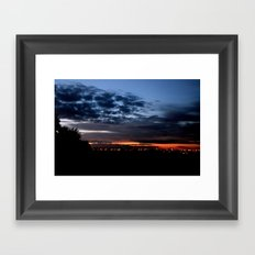 Dramatic Clouds Framed Art Print