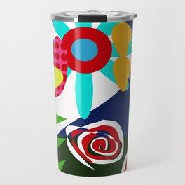 flowers and plant naif Travel Mug