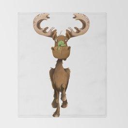 Moose Named Moe Throw Blanket