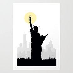 Drunk Liberty Art Print
