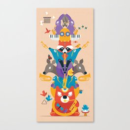 Honk Totem Canvas Print