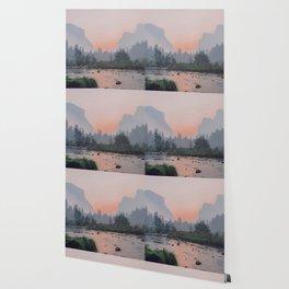 Yosemite Valley Sunrise Pretty Pink Wallpaper
