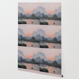 Yosemite Valley Sunrise Pretty Pink Wallpaper