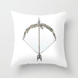 Bow and Arrow Throw Pillow