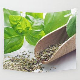 Basil herbs for kitchen Wall Tapestry