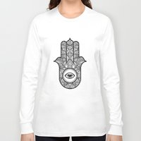 hamsa Long Sleeve T-shirts featuring Hamsa by Carlin