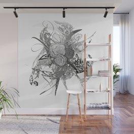 50 shades of lace Grey Silver Wall Mural