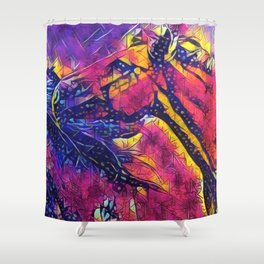 Abstract Wild Horses Shower Curtain