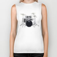 drums Biker Tanks featuring Pearl Drums  by good music