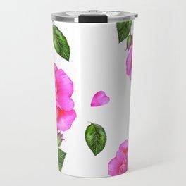 Shabby Chic Vintage Pink Rose Travel Mug