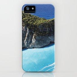 Zakynthos Island, Navagio Beach bay iPhone Case