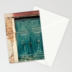 Turquoise Door in Venice Stationery Cards