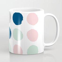 Minimal painted dots gender neutral home decor minimalist nursery baby polka dots Coffee Mug
