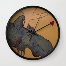 Mister Moose Art Print Wall Clock