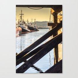 Docked Tugboats Canvas Print