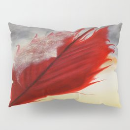 A RED FEATHER BLOWS NORTH Pillow Sham