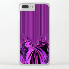 Neon Heart and Stripes Clear iPhone Case