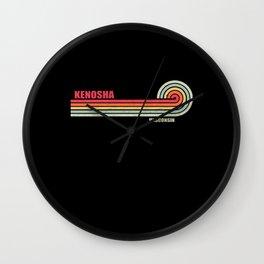 Kenosha Wisconsin City State Wall Clock