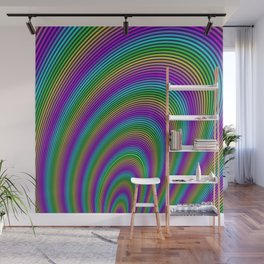 Fractal Rainbow Tunnel Wall Mural