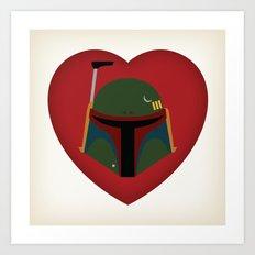 Fett Love (Boba Fett) Art Print
