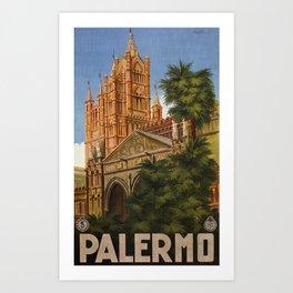 vintage Palermo Sicily Italian travel ad Art Print