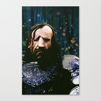 the hound Canvas Prints featuring THE HOUND by Chewgowski