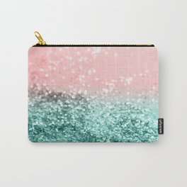 Summer Vibes Glitter #4 #coral #mint #shiny #decor #art #society6 Carry-All Pouch