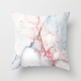 Rainbow Taffy Candy Marble Design Throw Pillow