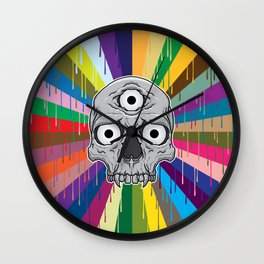 3 Eyed Jackass Wall Clock