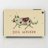 gore iPad Cases featuring Dog Walker by Sophie Corrigan