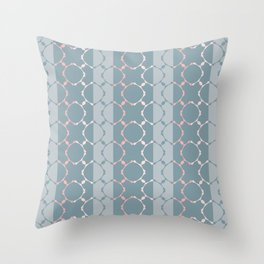 Elegant ornamental pattern (blue and pink) Throw Pillow
