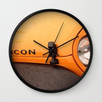 jeep Wall Clocks featuring Jeep Rubicon by SShaw Photographic