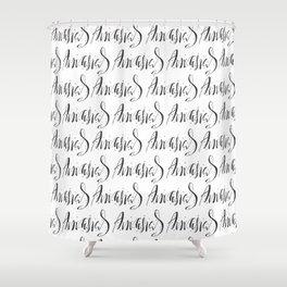 Calligraphic pattern Shower Curtain