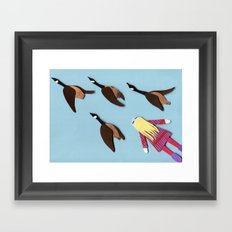 Flying V Framed Art Print
