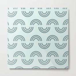 Rainbow Snake {mint} Metal Print