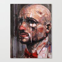 clown Canvas Prints featuring 'Clown' by Arthur R Piwko (picpoc)