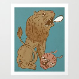 very fond of oysters Art Print