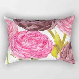 Ranunculus + Peonies Rectangular Pillow