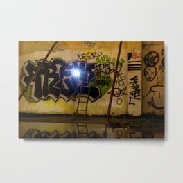 Floating Flash Metal Print