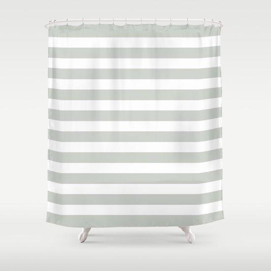 Stripe Sea Salt Shower Curtain