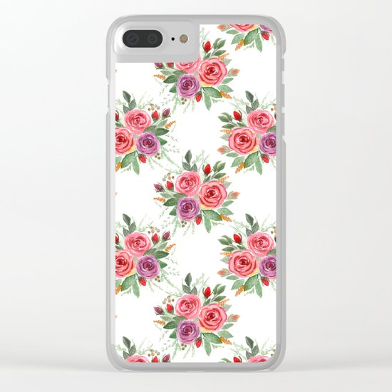 Watercolor . A bouquet of roses. 2 Clear iPhone Case