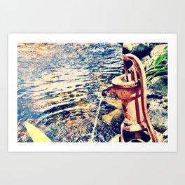 waterfountain Art Print
