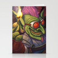 warcraft Stationery Cards featuring The Firework Maker Goblin by foreest